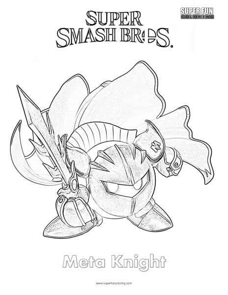 Meta Knight- Super Smash Brothers Coloring Page
