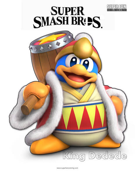 King Dedede- Super Smash Bros. Ultimate Nintendo Coloring Page