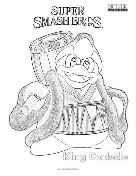 King Dedede- Super Smash Brothers Coloring Page