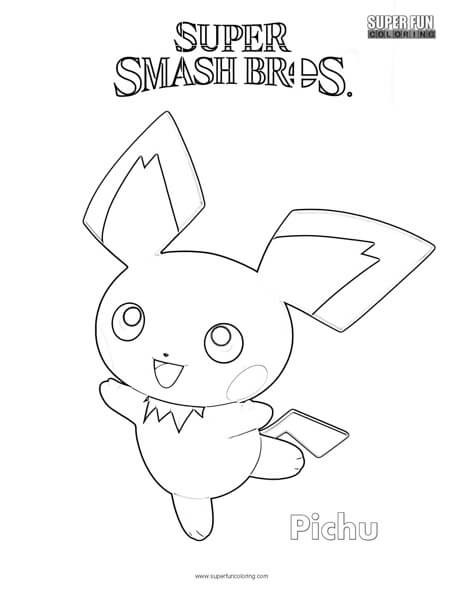 Pichu- Super Smash Brothers Coloring Page