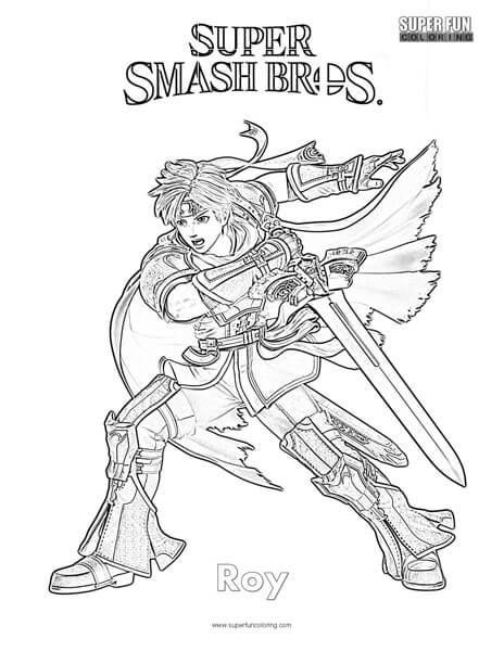 Roy Super Smash Brothers Coloring Page Super Fun Coloring
