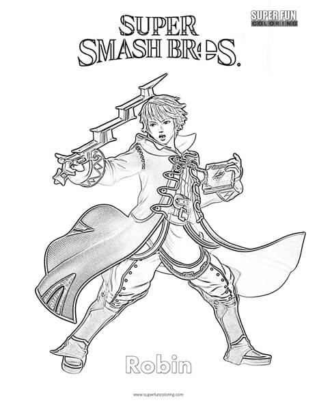 Robin- Super Smash Brothers Coloring Page