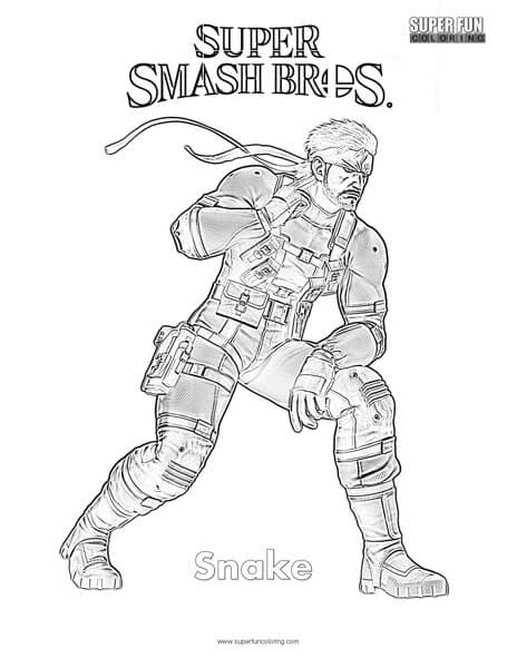 Snake- Super Smash Brothers Coloring Page
