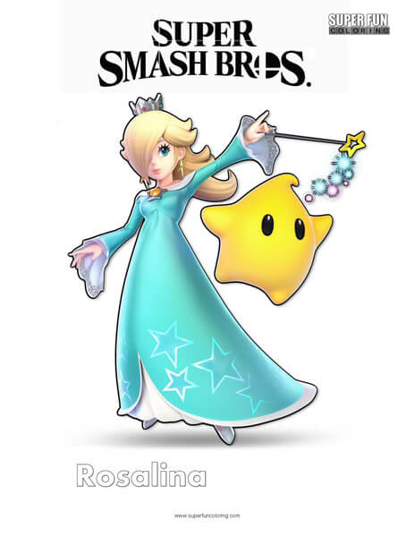 Rosalina- Super Smash Bros. Ultimate Nintendo Coloring Page