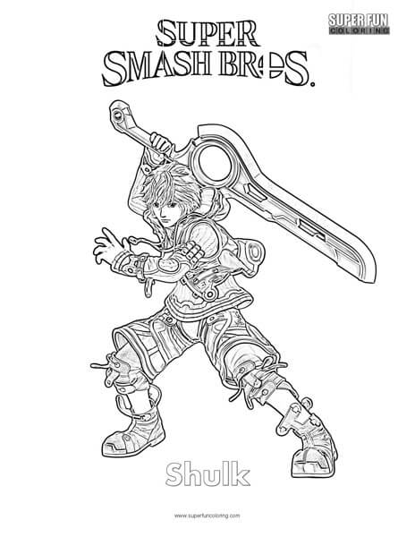 Shulk- Super Smash Brothers Coloring Page - Super Fun Coloring