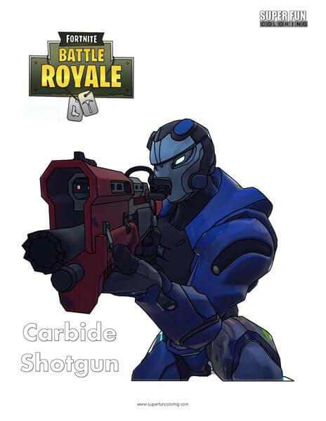 Fortnite Carbide Shotgun Coloring Page
