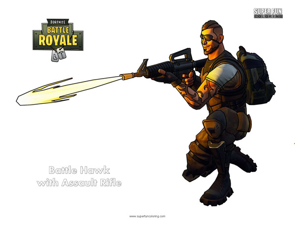 Fortnite Assault Rifle Coloring Page
