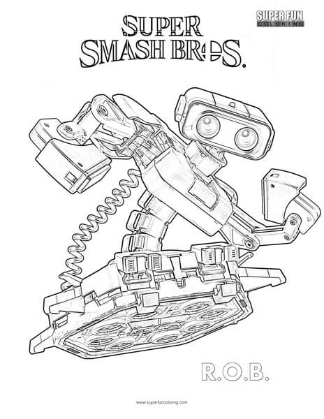 ROB- Super Smash Brothers Coloring Page