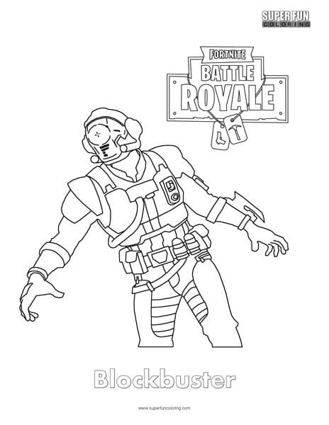 blockbuster fortnite coloring page