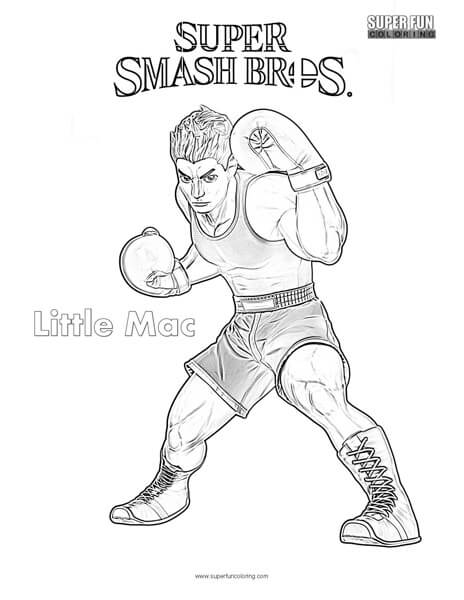 Little Mac- Super Smash Brothers Coloring Page