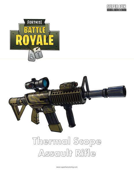 Thermal Scope Assault Rifle Fortnite Coloring Page
