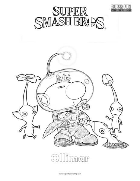 Ollimar Super Smash Brothers Coloring Page Super Fun Coloring