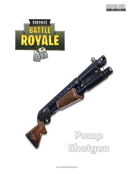 Shotgun Fortnite Coloring Page