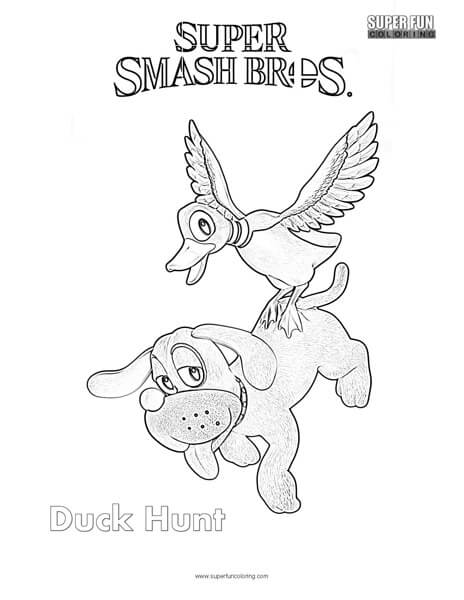 Duck Hunt- Super Smash Brothers Coloring Page