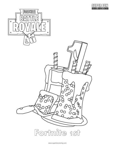 Terrific Fortnite 1St Birthday Cake Coloring Page Super Fun Coloring Personalised Birthday Cards Beptaeletsinfo