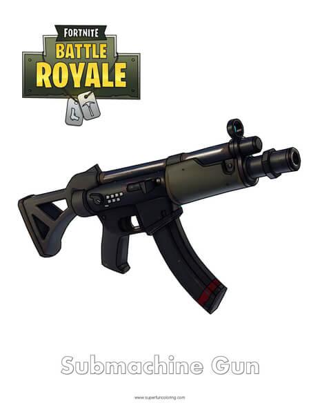 Semi-Auto Sniper Fortnite Coloring Page