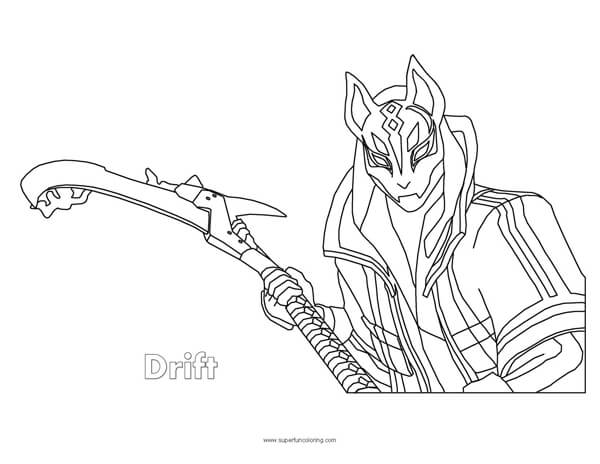 Fortnite Drift Coloring Page Super Fun Coloring