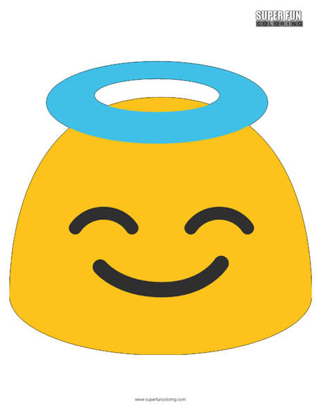 Google Angel Emoji Coloring Page