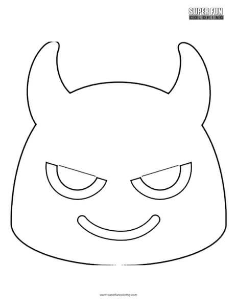 Google Devil Emoji Coloring Page