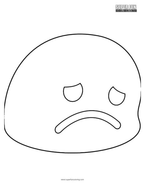 Google Disappointed Emoji Coloring Page