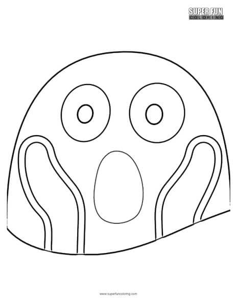 Google Fear Emoji Coloring Page
