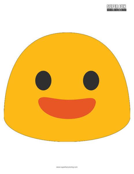 Google Happy Emoji Coloring Page
