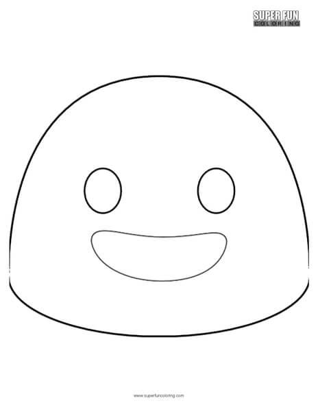 google happy emoji coloring page - super fun coloring
