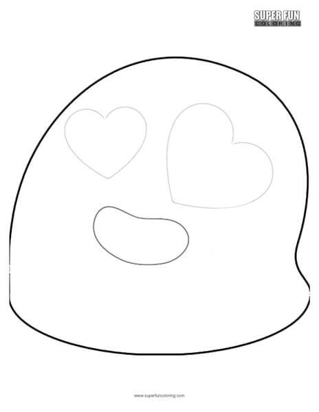 Google Hearts Emoji Coloring Page