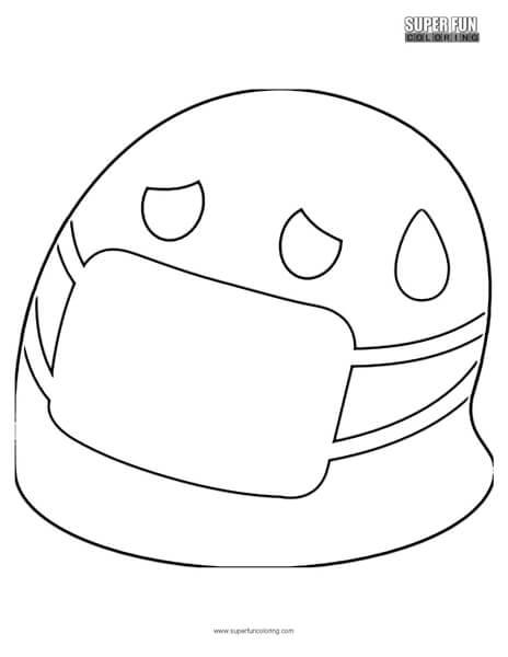 Google Hospital Mask Emoji Coloring Page