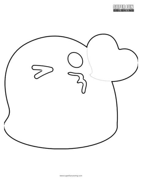 Google Kiss Emoji Coloring Page