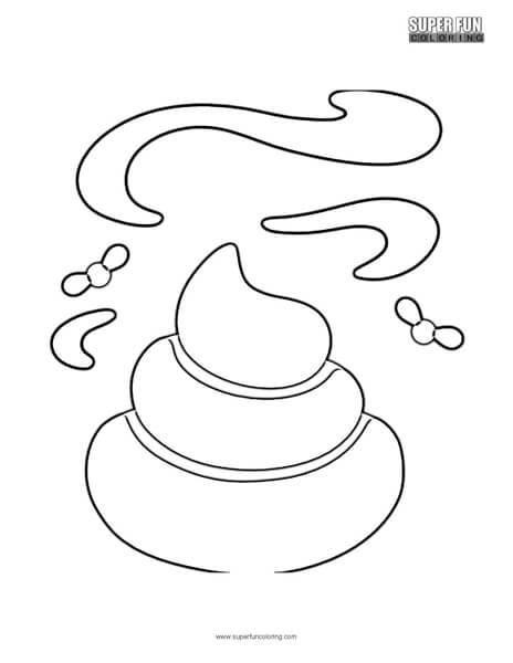 Google Poop Emoji Coloring Page