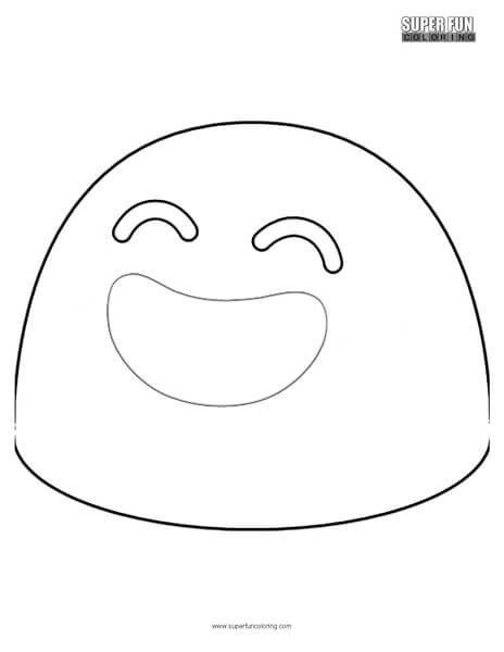 Google Smiling Face Emoji Coloring Page
