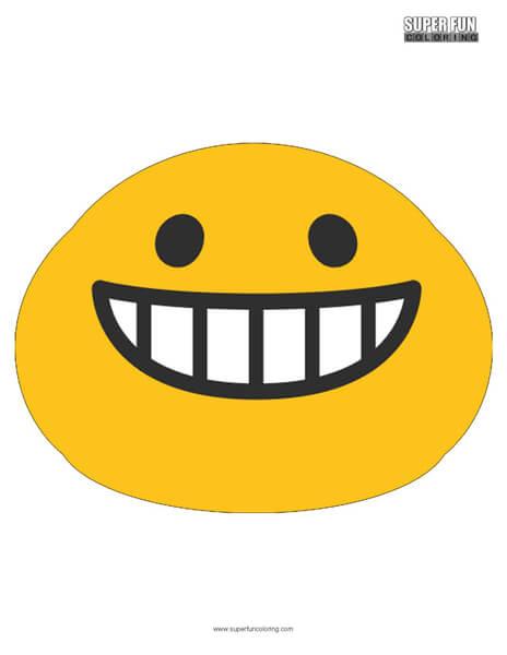 Google Smiling Teeth Emoji Coloring Page