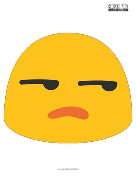 Google Unamused Emoji Coloring Page