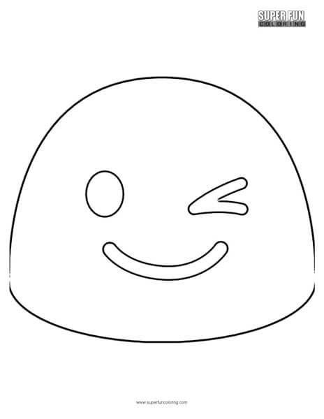 Google Wink Emoji Coloring Page
