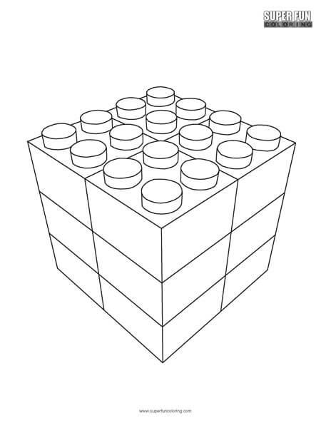 Lego Bricks Coloring Page