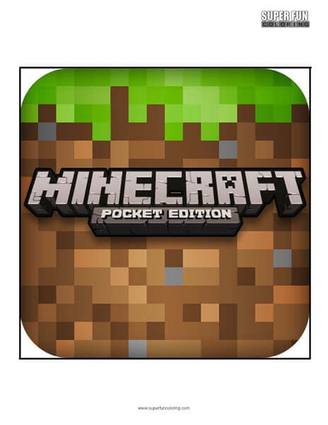 Minecraft App Coloring Page Android Iphone
