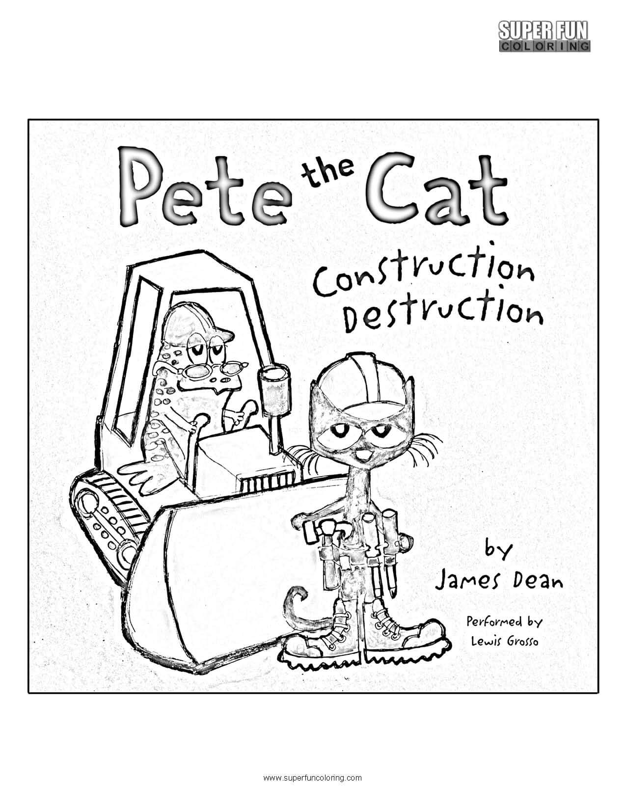 Pete The Cat Coloring Page Super Fun Coloring
