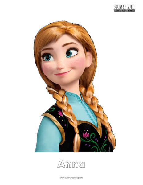 Anna Coloring Page Disney