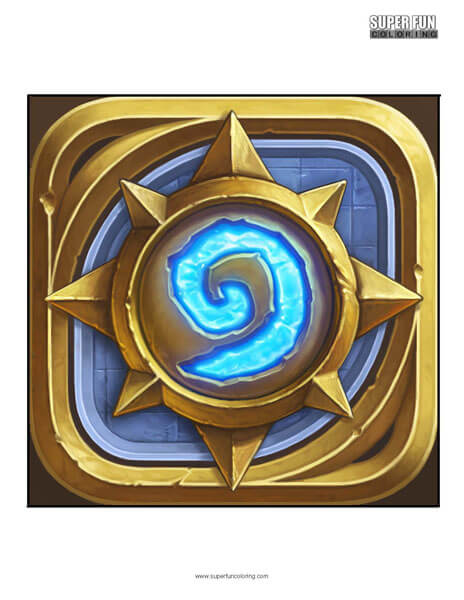 Hearthstone App Coloring Page Android Iphone