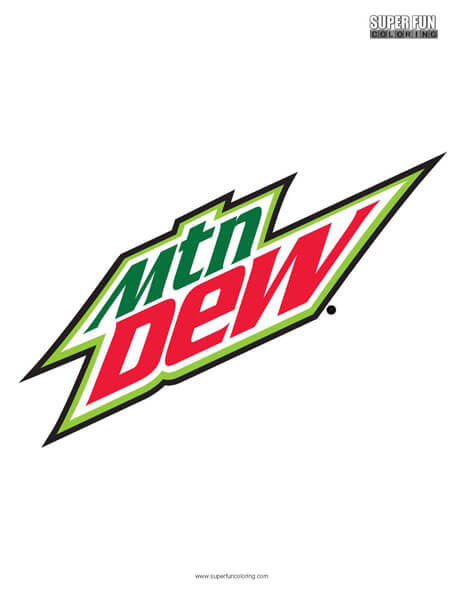 Mountain Dew Coloring Page Free