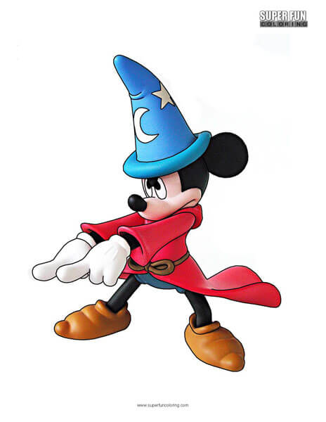 Fantasia Mickey Mouse Coloring Page Disney