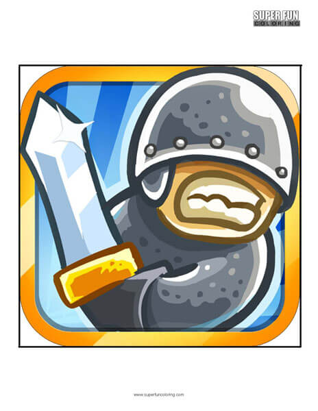 Kingdom Rush App Coloring Page Android Iphone