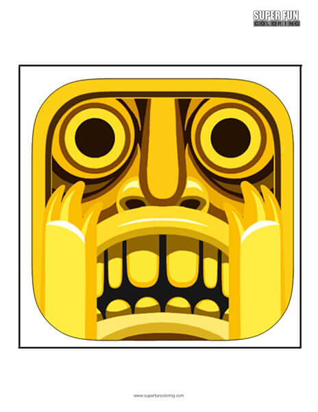 Temple Run App Coloring Page Android Iphone