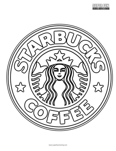 starbucks logo colouring pages sketch coloring page