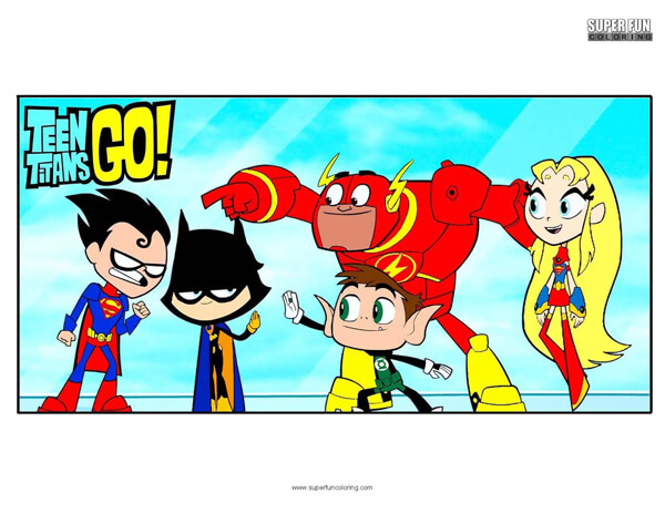 Teen Titans Go Coloring Page