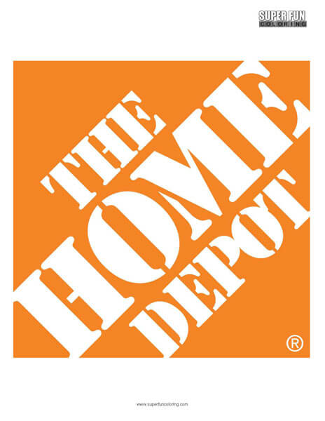 Home Depot Coloring Page Free