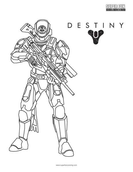 Destiny Titan Coloring Page