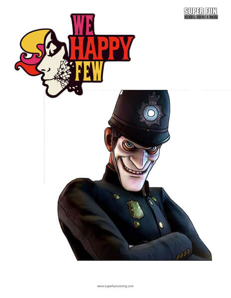 We Happy Few Coloring Page