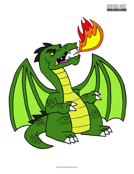 Green Dragon Coloring